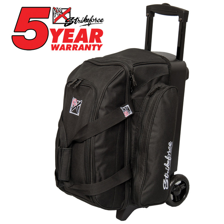 KR Kolors 2 Ball Double Roller Bowling Bag Black