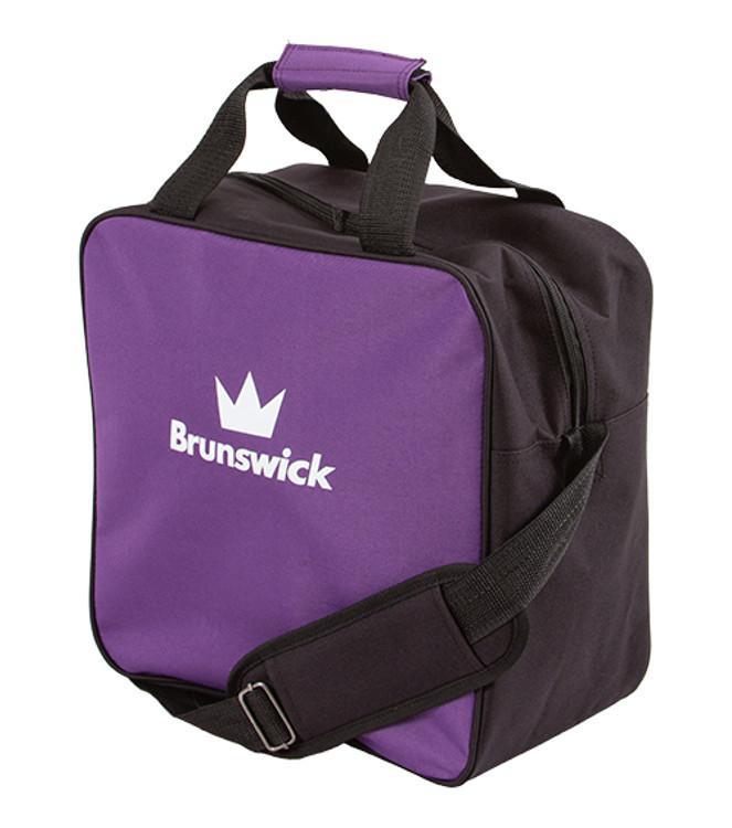 Brunswick TZone 1 Ball Single Tote Bowling Bag Purple