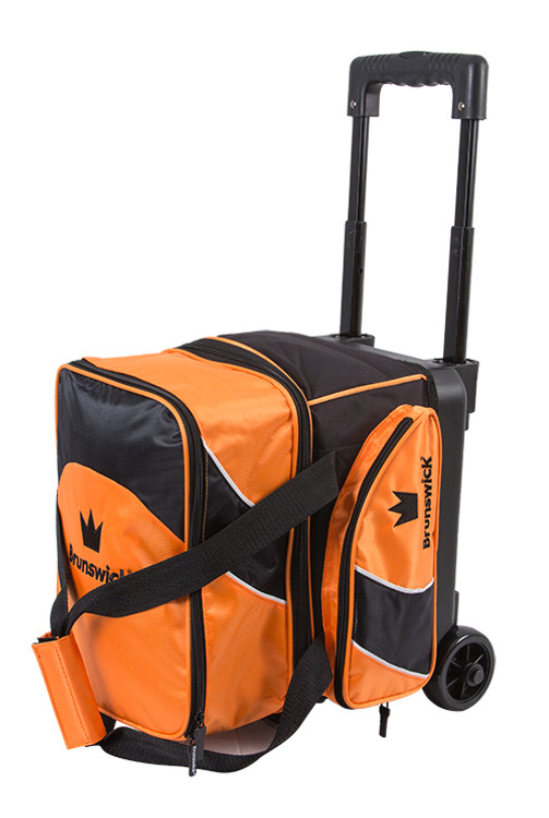 Brunswick Edge 1 Ball Single Roller Bowling Bag Orange