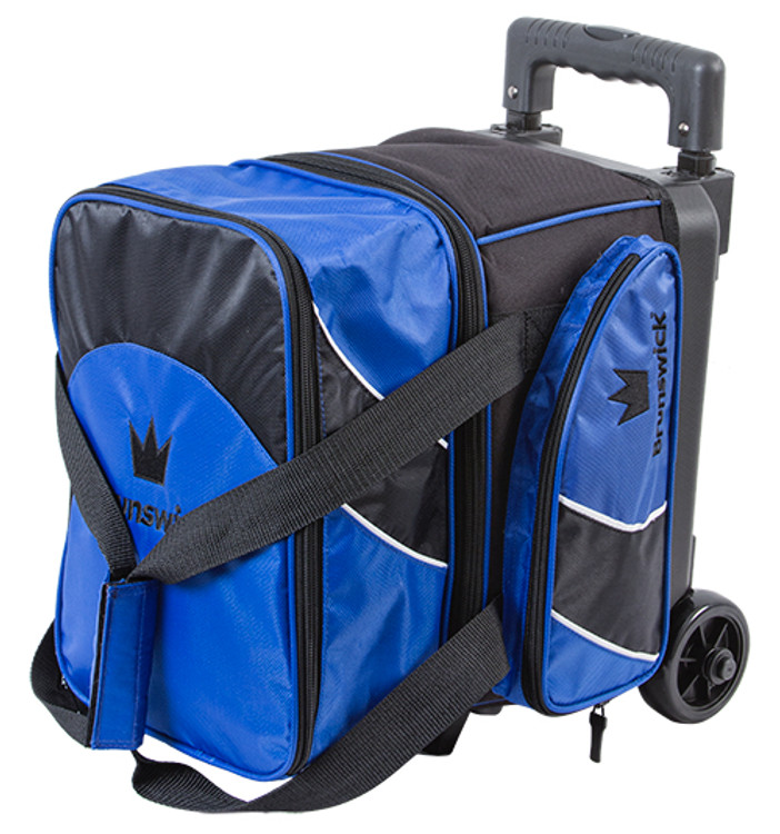Brunswick Edge 1 Ball Single Roller Bowling Bag Blue