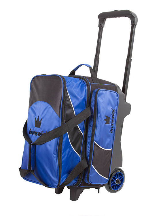 Brunswick Edge 2 Ball Double Roller Bowling Bag Blue