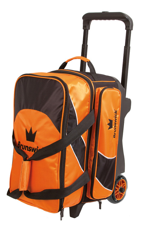 Brunswick Edge 2 Ball Double Roller Bowling Bag Orange