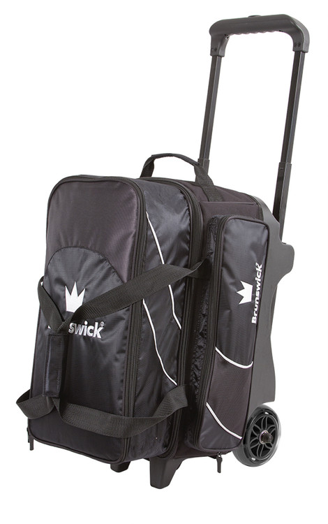 Brunswick Edge 2 Ball Double Roller Bowling Bag Black