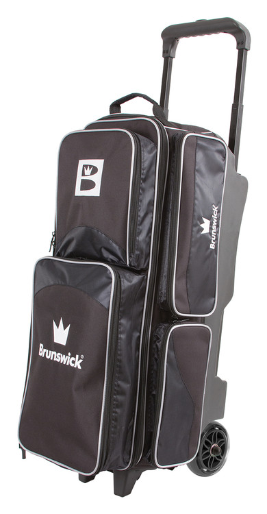 Brunswick Edge 3 Ball Triple Roller Bowling Bag Black