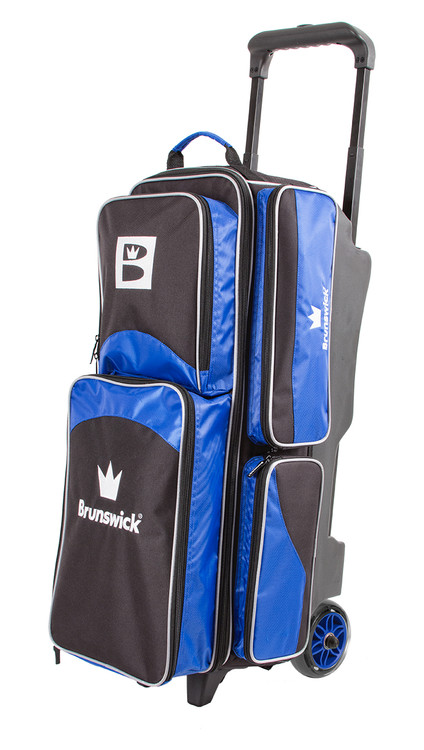 Brunswick Edge 3 Ball Triple Roller Bowling Bag Blue