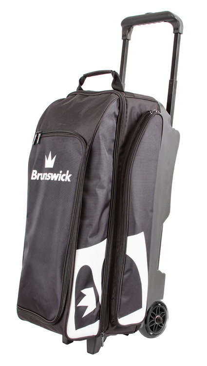 Brunswick Blitz 3 Ball Triple Roller Bowling Bag Black