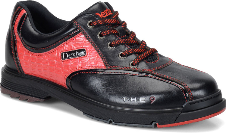 Dexter THE 9 Mens Bowling Shoes Black Red