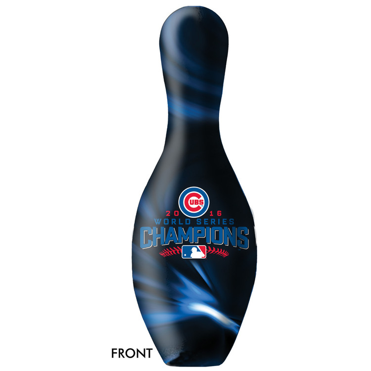 MLB Chicago Cubs World Series Champions 2016 Bowling Pin Front View