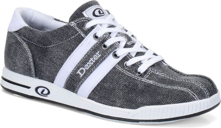 Dexter Kory II Comfort Canvas Mens Bowling Shoes Black White