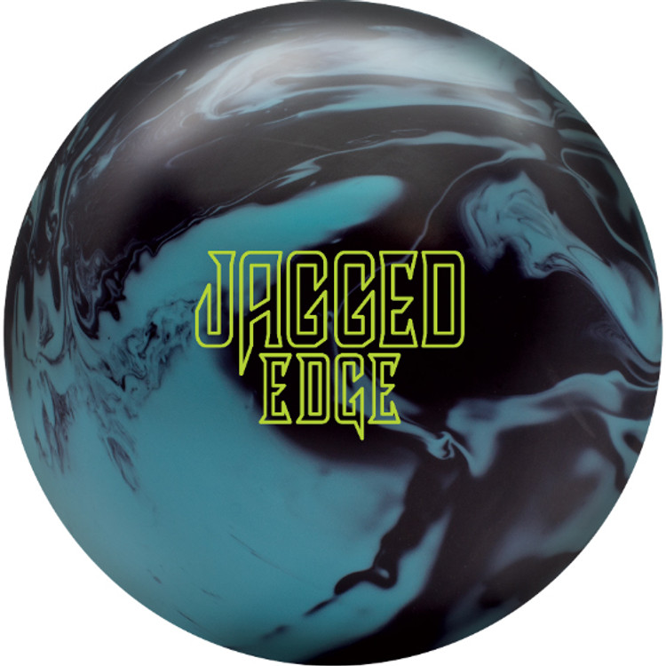Brunswick Jagged Edge Solid Bowling Ball Front View