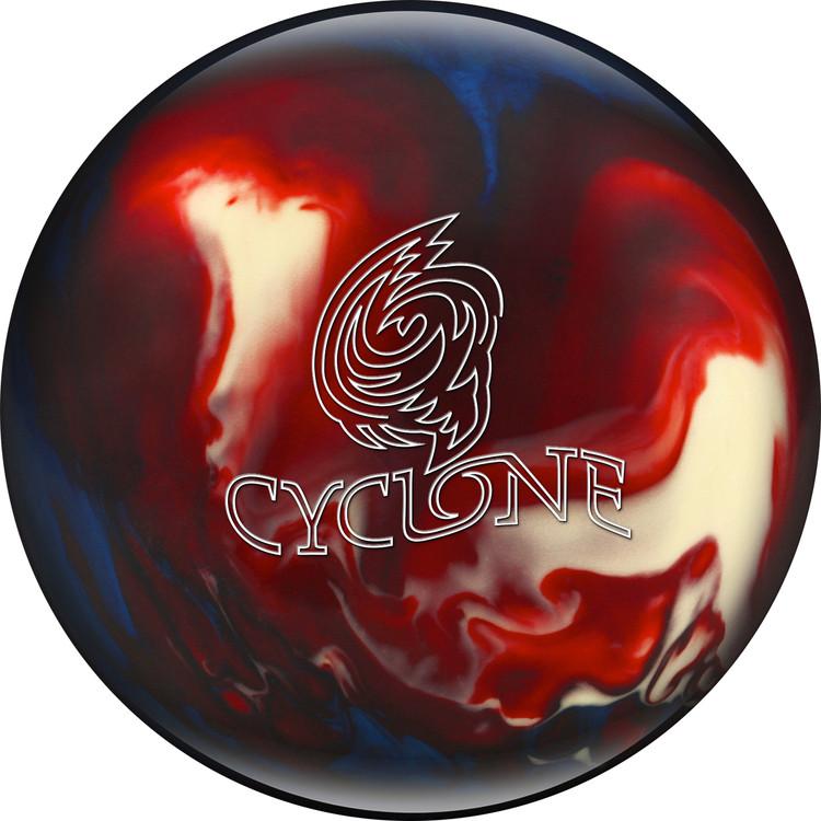 Ebonite Cyclone Bowling Ball Red White Blue