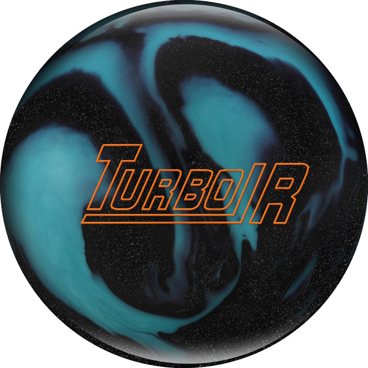 Ebonite Turbo/R Bowling Ball Black Sparkle Aqua