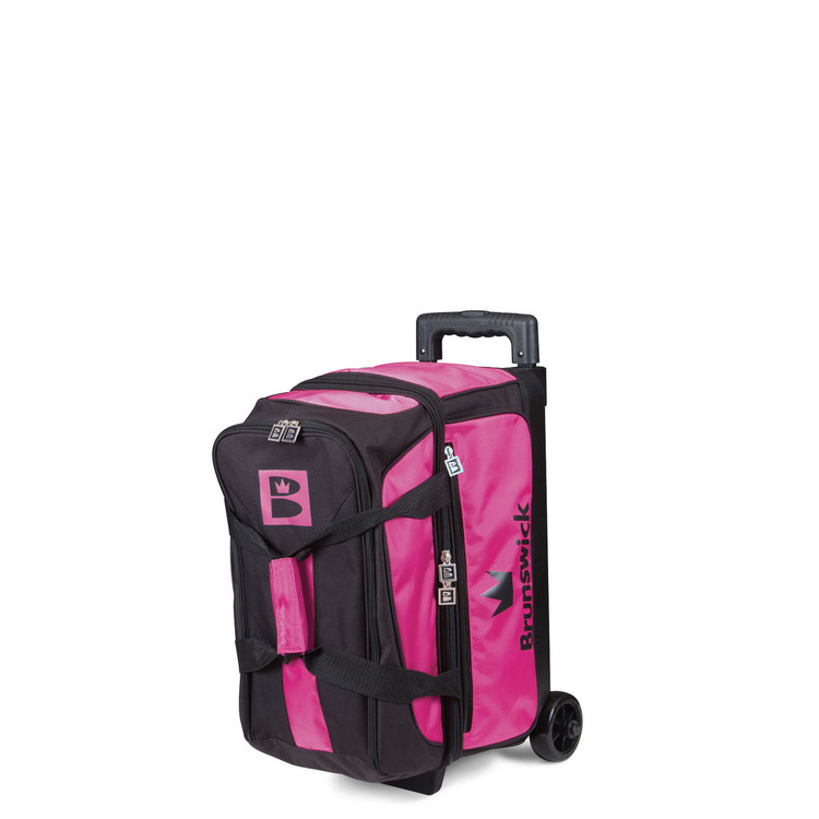 Brunswick Blitz 2 Ball Double Roller Bowling Bag Pink