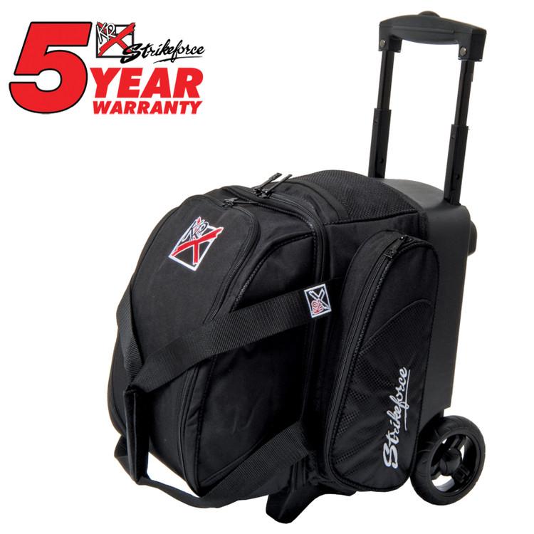 KR Cruiser 1 Ball Single Roller Bowling Bag Black