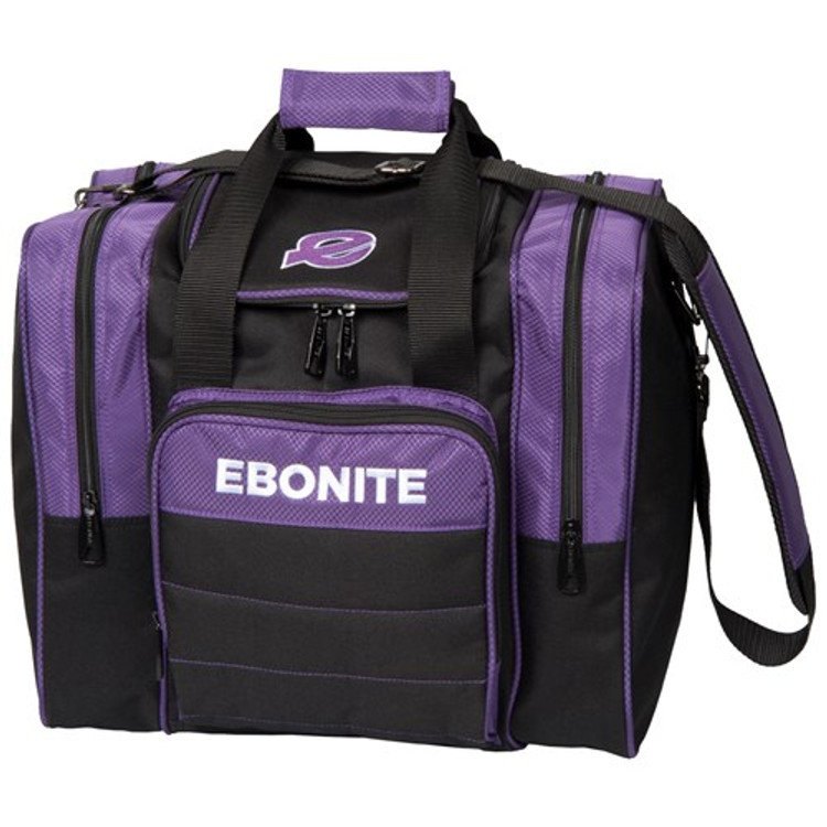Ebonite Impact Plus Single Tote Bowling Bag Purple