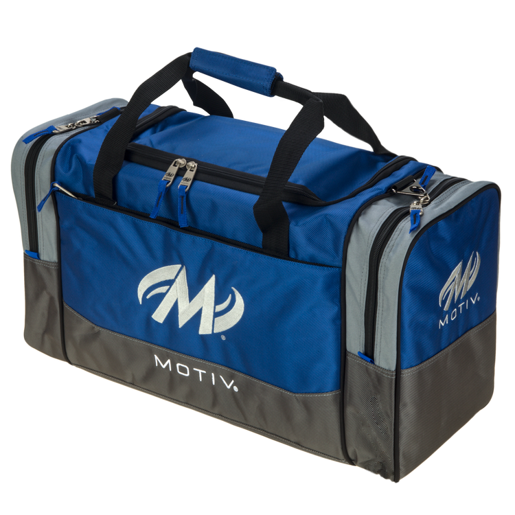 Motiv Shock 2 Ball Double Tote Bowling Bag Blue