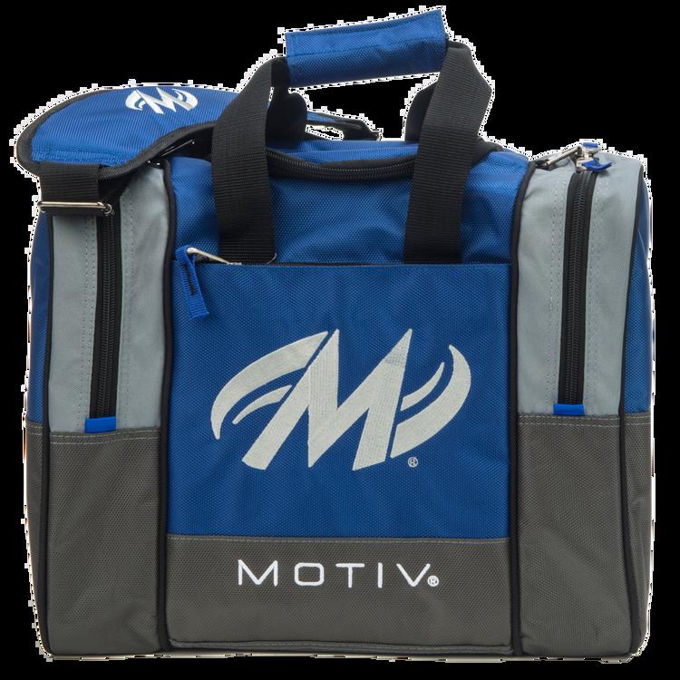Motiv Shock 1 Ball Single Tote Bowling Bag Blue