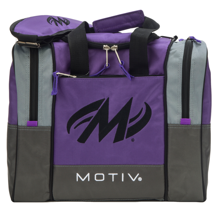 Motiv Shock 1 Ball Single Tote Bowling Bag Purple