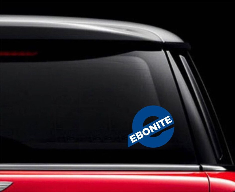 Ebonite E Car Decal Blue