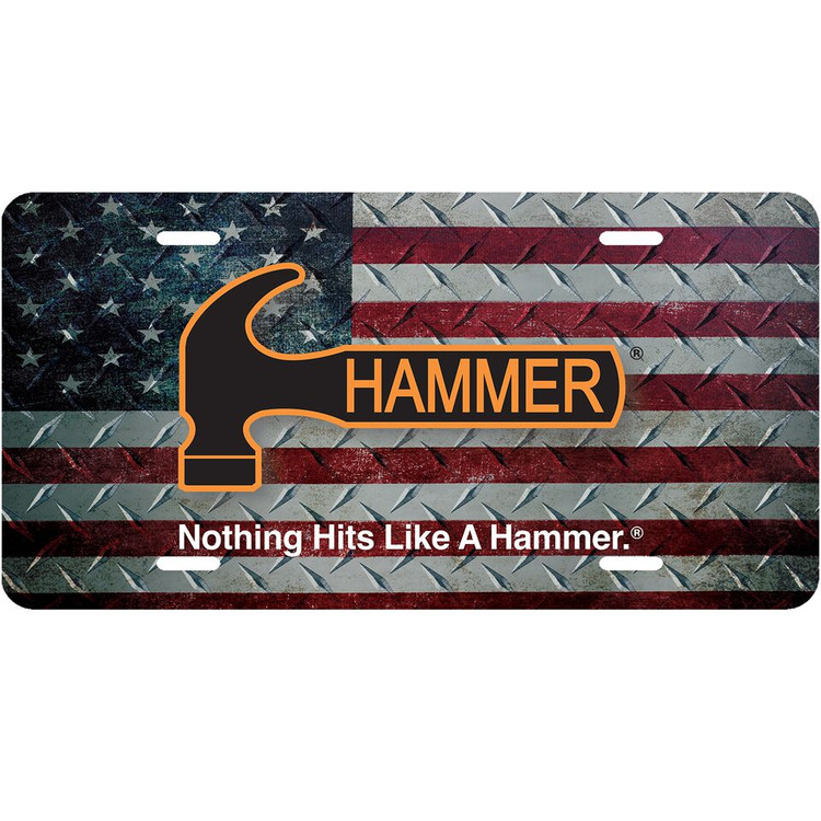 Hammer Car License Plate