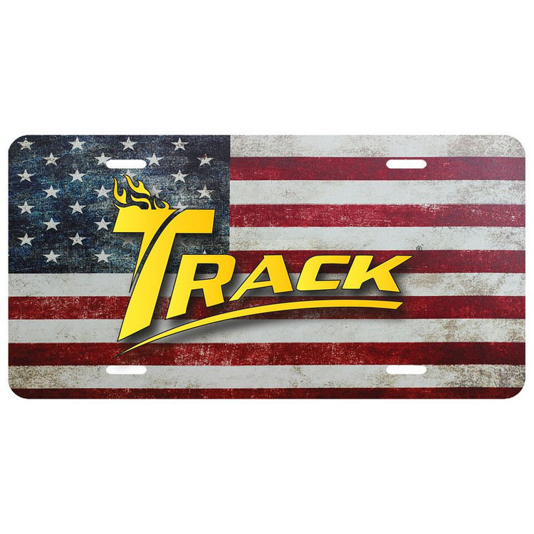 Track Car License Plate