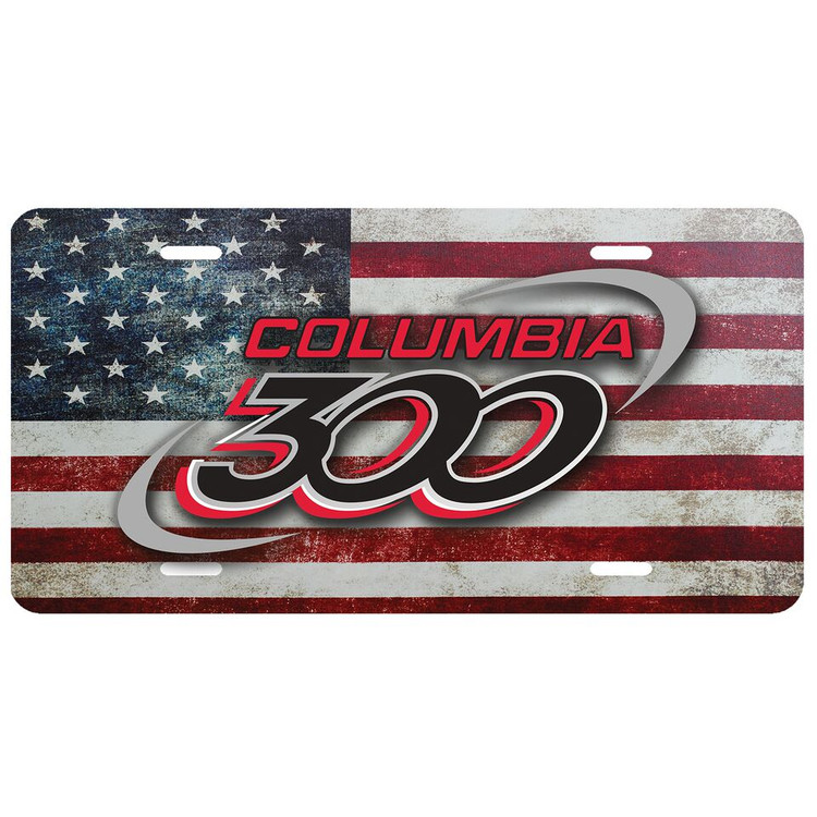 Columbia 300 Car License Plate