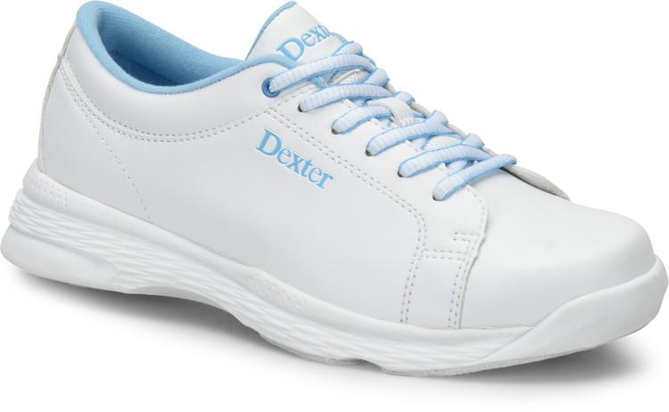 Dexter Raquel V Womens Bowling Shoes White Blue Wide