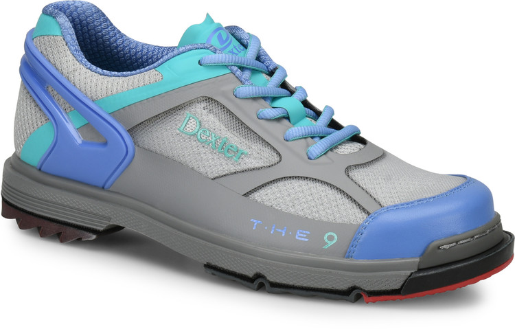 Dexter THE 9 HT Womens Bowling Shoes Grey Peri Aqua