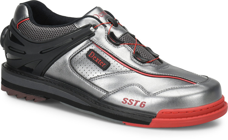 Dexter SST 6 Hybrid BOA Mens Bowling Shoes Right Hand Grey Black Red WIDE