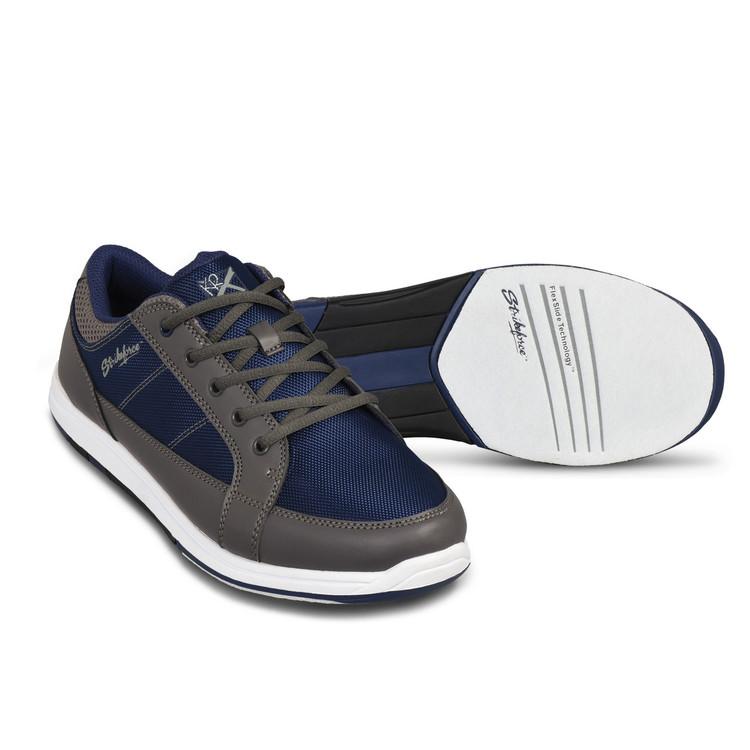 KR Strikeforce Spartan Mens Bowling Shoes Grey Navy