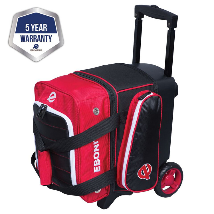Ebonite Eclipse Single Roller Bowling Bag Red