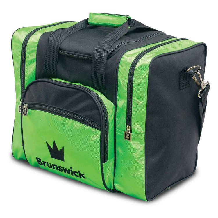 Brunswick Edge 1 Ball Single Tote Bowling Bag Lime