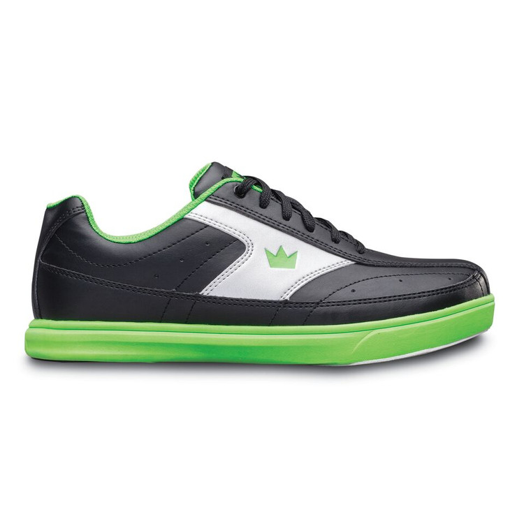 Brunswick Renegade Youth Bowling Shoes Black Neon Green