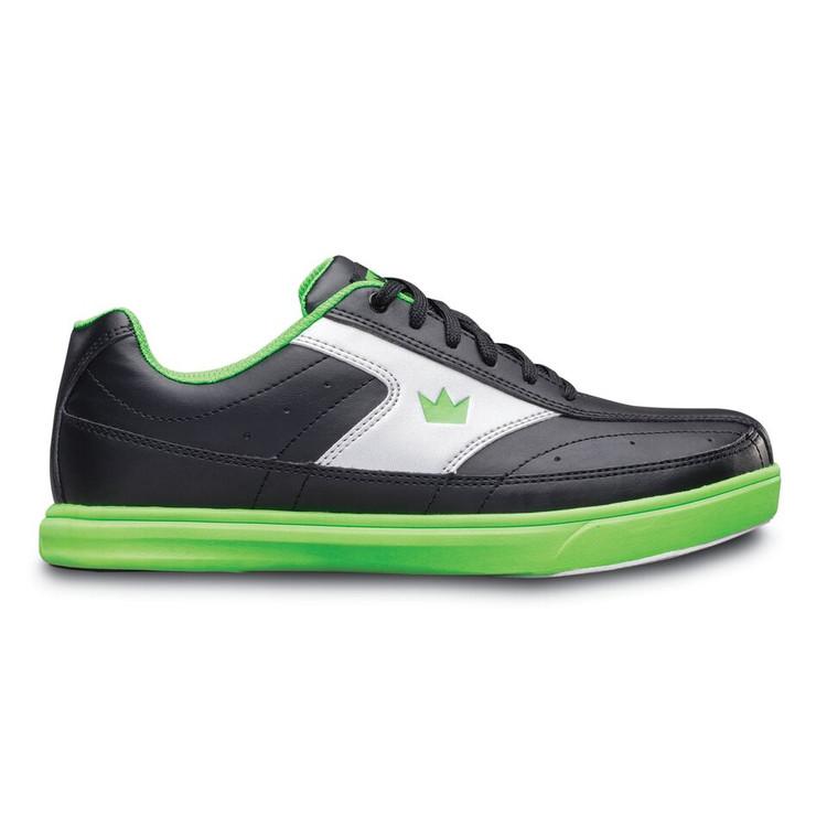 Brunswick Renegade Bowling Shoes Black Neon Green