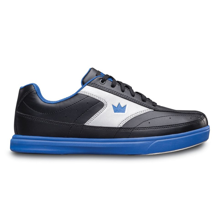 Brunswick Renegade Bowling Shoes Black Royal WIDE