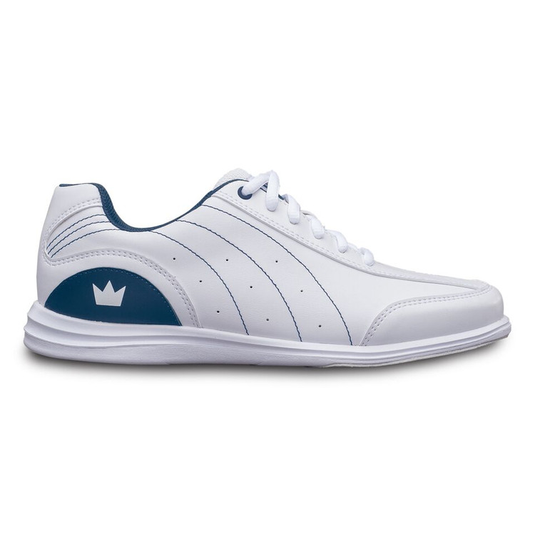 Brunswick Mystic Women's Bowling Shoes White Navy WIDE