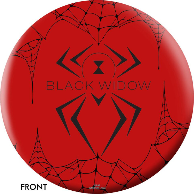 OTB EBI Black Widow Polyester Red Bowling Ball