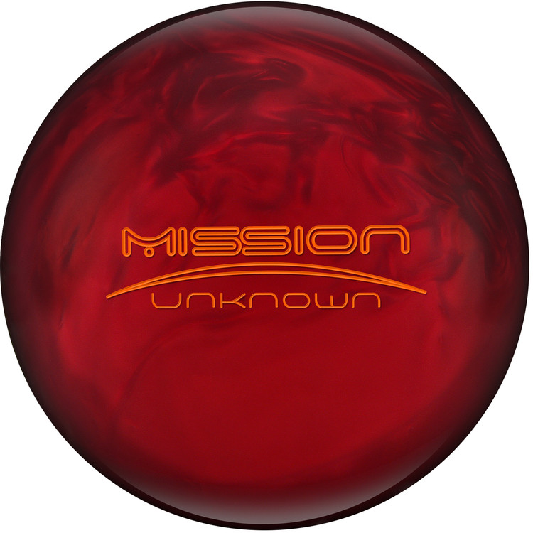 Ebonite Mission Unknown Bowling Ball Limited Edition Red RARE