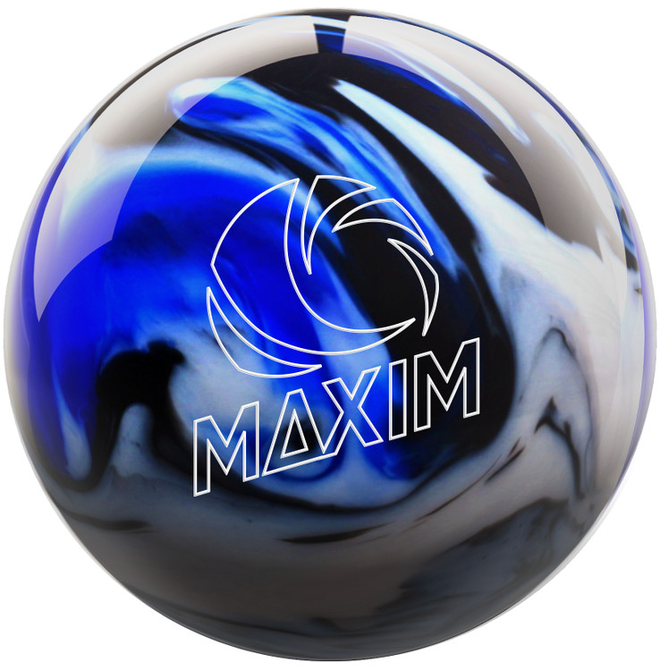Maxim Captain Midnight Bowling Ball Front View