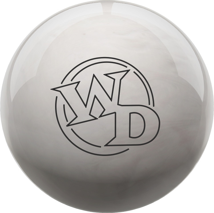 White Dot Bowling Ball Diamond Front View