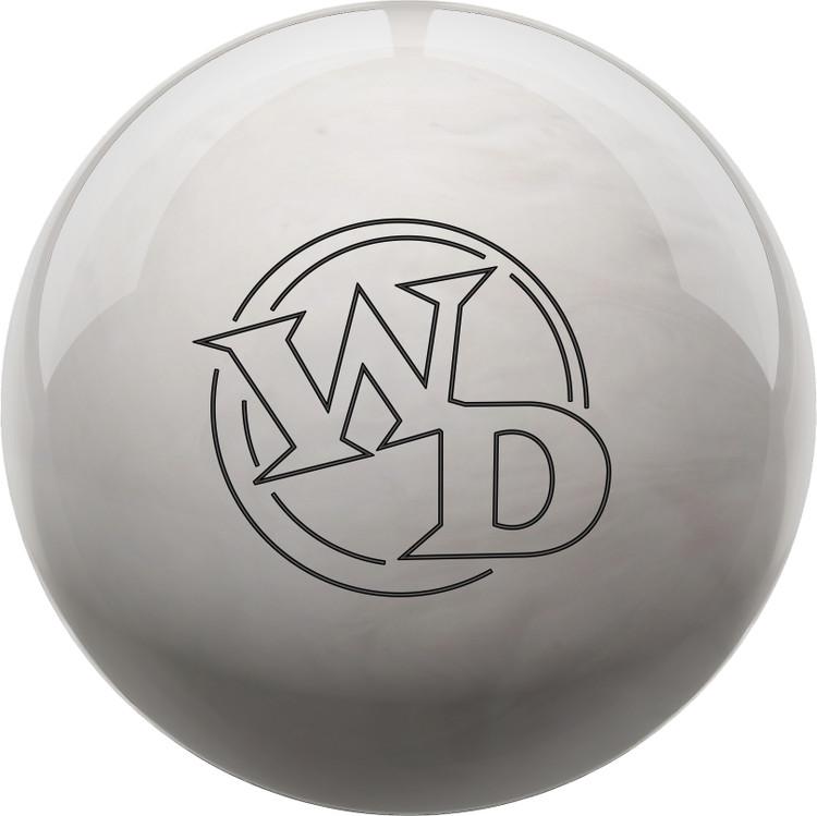 White Dot Bowling Ball Diamond Front View