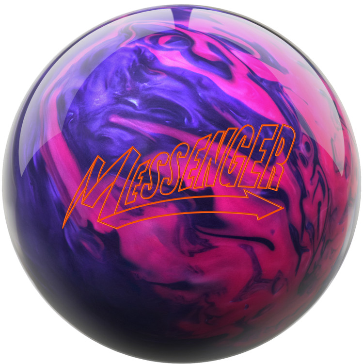 Messenger Bowling Ball Pink Purple Front View