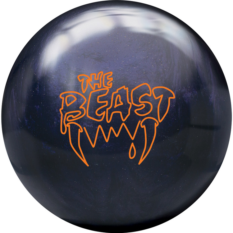 Beast Bowling Ball Purple Sparkle Front View