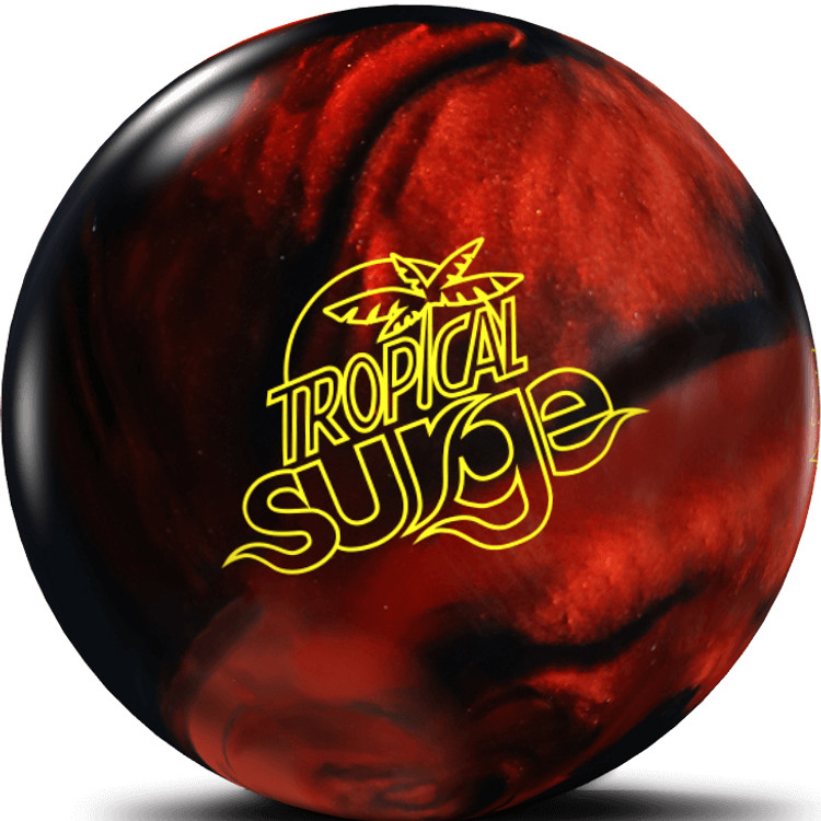 Tropical Surge Bowling Ball Black Copper Front View