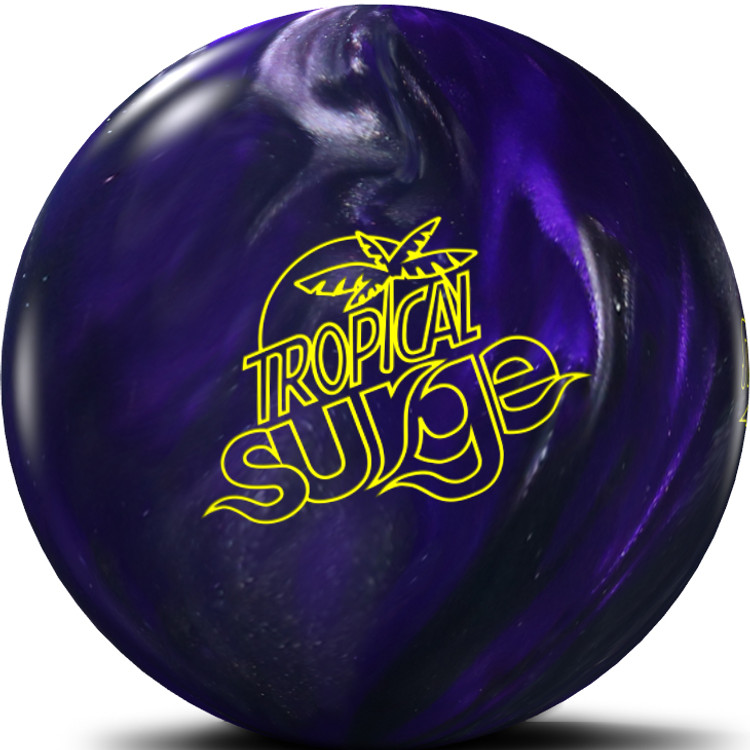 Tropical Surge Bowling Ball Violet Charcoal Front View