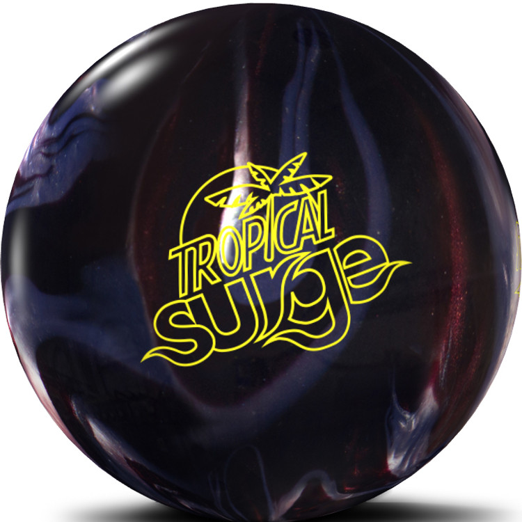 Tropical Surge Bowling Ball Carbon Chrome Front View