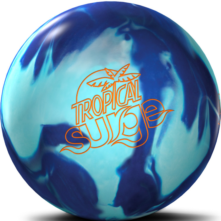 Tropical Surge Bowling Ball Teal Blue Front View