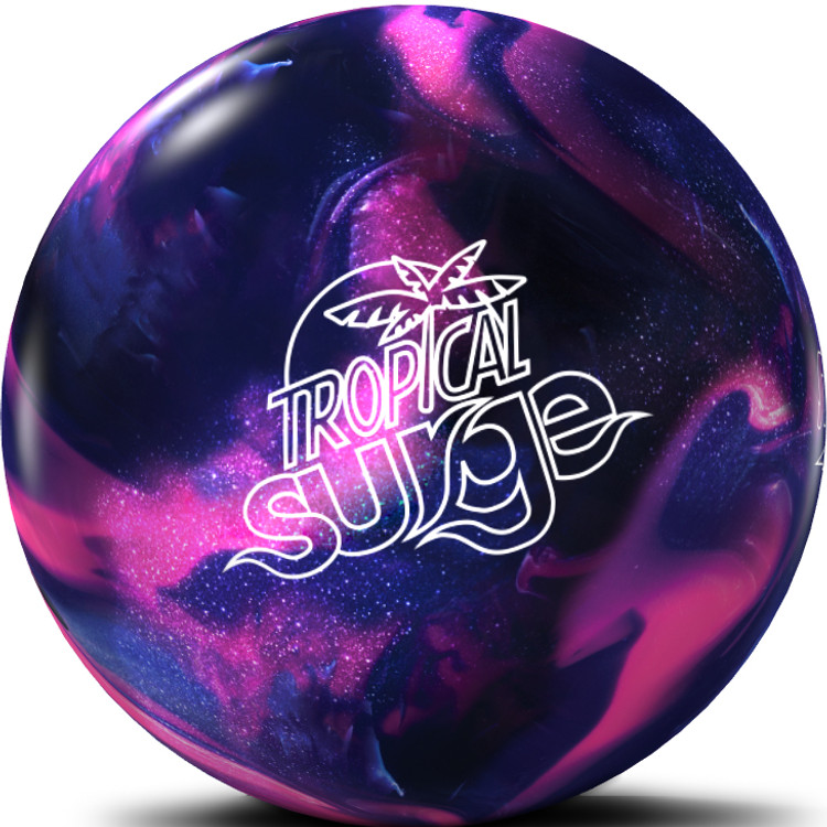 Tropical Surge Bowling Ball Pink Purple Front View