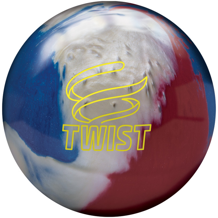 Twist Bowling Ball Red White Blue Front View