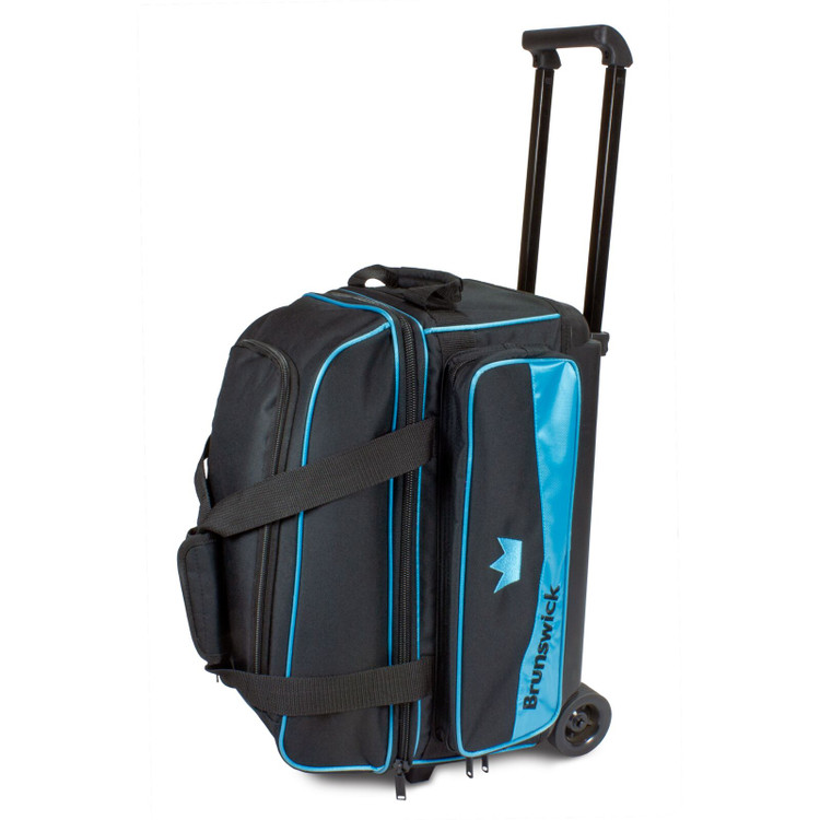 Brunswick Zone 2 Ball Double Roller Bowling Bag Sky Blue